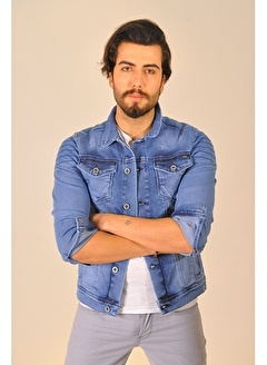 LTC Jeans Mavi Erkek Kot Ceket